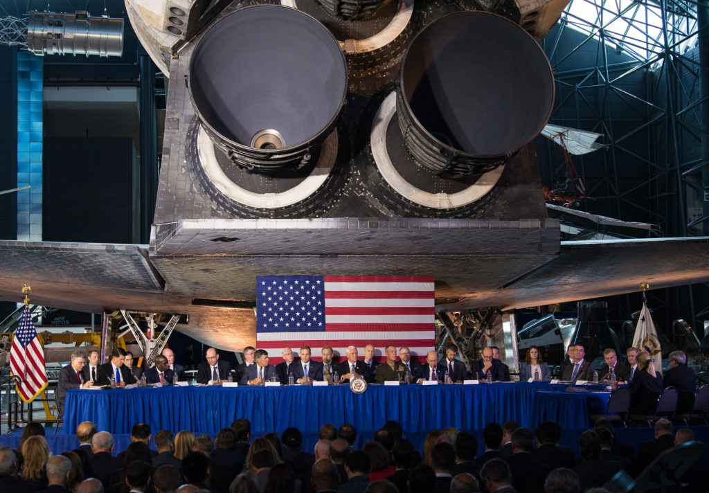 National Space Council meeting