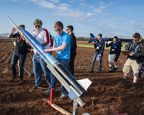 Students in middle, high school, and college participated in NASA's Student Launch in April 2019. Despite hands-on learning such as this, global test results analyzed by the Organisation for Economic Cooperation and Development show that overall, only 54% of students tested were proficient in math and in science. Credit: NASA/Fred Deaton